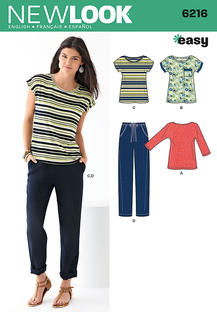 New-Look Patterns Tops | Patterns › New Look › Tops , Pants › 6216 Misses Top and pants