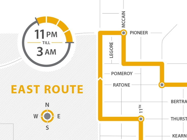 SafeRide Bus Route Map by Jason Wright