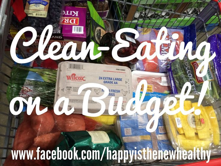 Clean eating on a budget! Two weeks of groceries for two, only $175.
