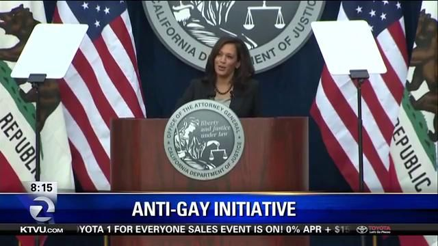 Attorney General Kamala Harris has taken the first step to blocking a proposed ballot initiative that supports killing gay people. A Southern California lawyer has proposed changing the law to making it legal to kill gay people. Harris has spoken out saying that this initiative is unconstitutional and threatens public safety.