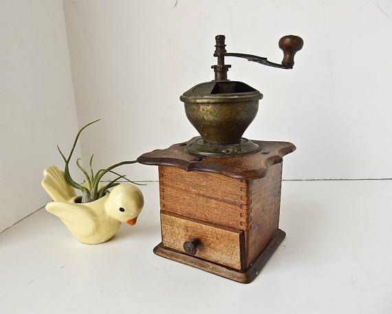 Antique Coffee Grinder Vintage Coffee Grinder Farmhouse