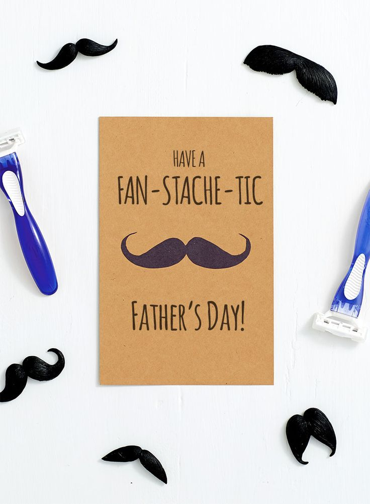 DIY Cards For Dad - Have a Fan-Stache-Tic Father's Day! It's easy to make this fun Father's Day card with this free downloadable, printable mustache template.