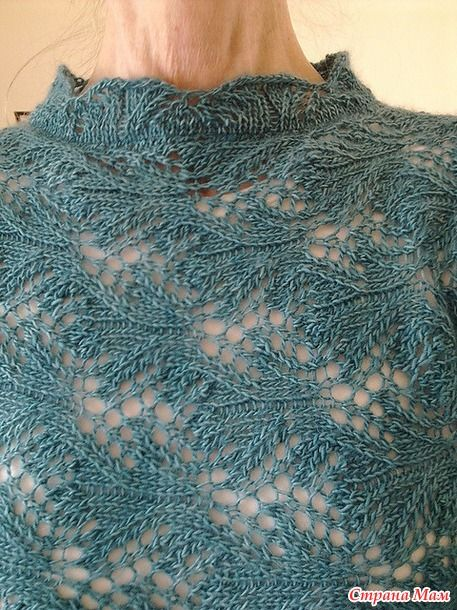 """Lovely leafy lace pattern, anyone know where to find it? I found it on a Russian site where they do knit the most delightfully original things and the person who posted it asked  """"Girls, help me find a pattern to the pattern."""" So anyone out there know??????"""