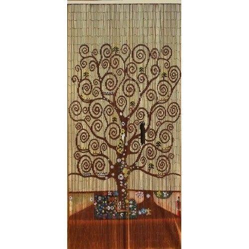 Beaded Door Curtains Bamboo Wall Hanging Drapes Room Divider Beads Tree Of Life #abeadedcurtain #Modern