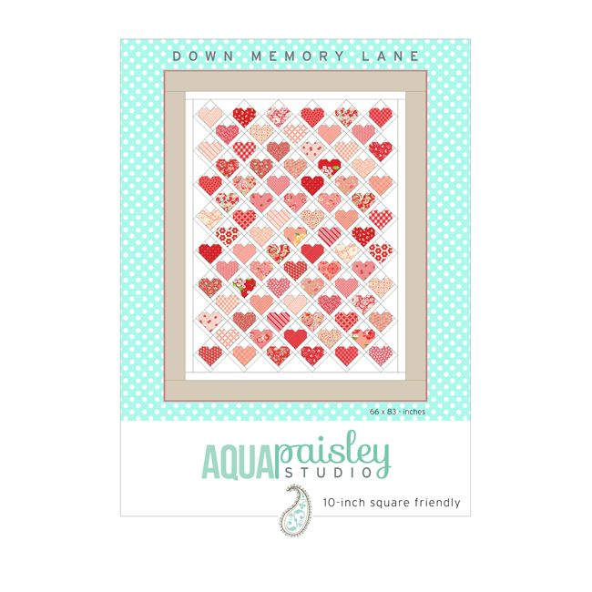 """Down Memory Lane PDF Quilt Pattern available for immediate download. Designed for 10"""" squares, plus additional yardage. Perfect for Layer Cakes or scraps."""