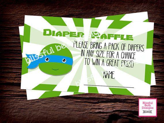 Teenage Mutant Ninja Turtle Baby Shower Diaper Raffle