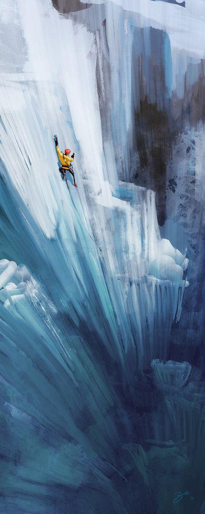Ice Climber by GorosArt.deviantart.com on @deviantART. Great picture!!!!
