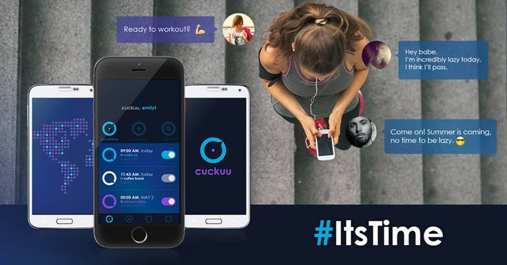 If mondays and gym don't seem to rhyme so well, here's an idea: - download Cuckuu; - create an alarm to go to the gym and invite your friends to join and comment; - let the workout freaks motivate the lazy heads.