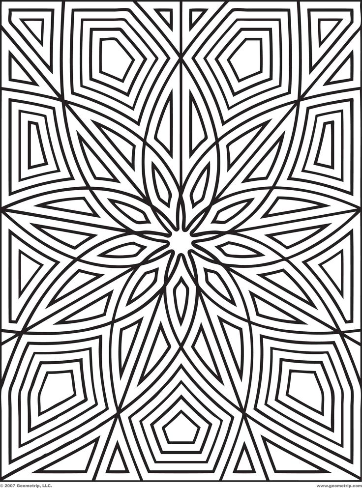 25 best GEOMETRIC COLORING PATTERNS images on Pinterest | Mandalas ...