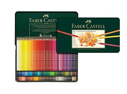 Amazon.com : Faber Castell Polychromos Color Pencil Set - Tin of 120 : Childrens Colored Pencils : Office Products