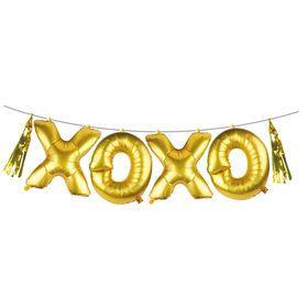 50cm Air-Filled Foil Balloon Garland - XOXO