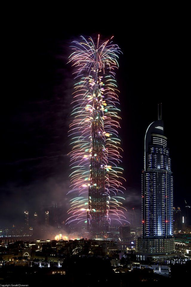 New Years Fireworks from Dubai.I want to go see this place one day. Please check out my website Thanks.  www.photopix.co.nz