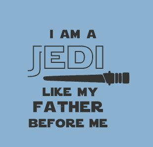 Awww, what a sweet little Padawan you have :-) Does Jedi run in your blood? Does your little one have an impressively high midichlorian count? Surrrre,