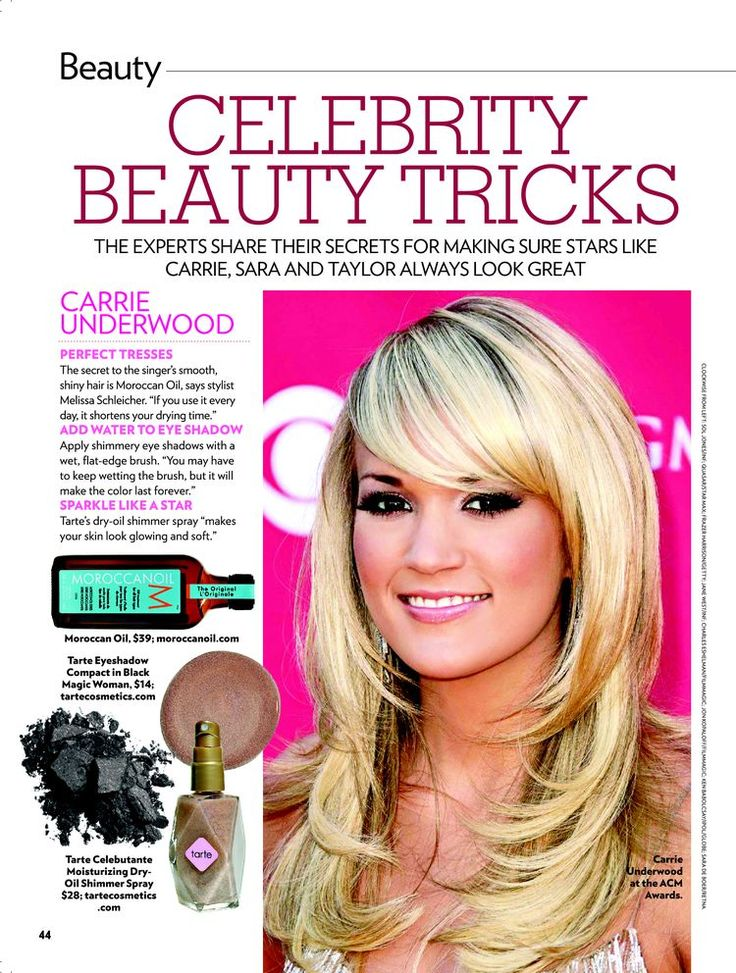 People Magazine Article Featuring Beauty Tips And Tricks