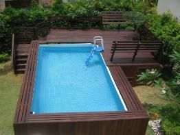 25 best ideas about rectangle above ground pool on pinterest inground pool designs above for Rectangular above ground swimming pools with deck