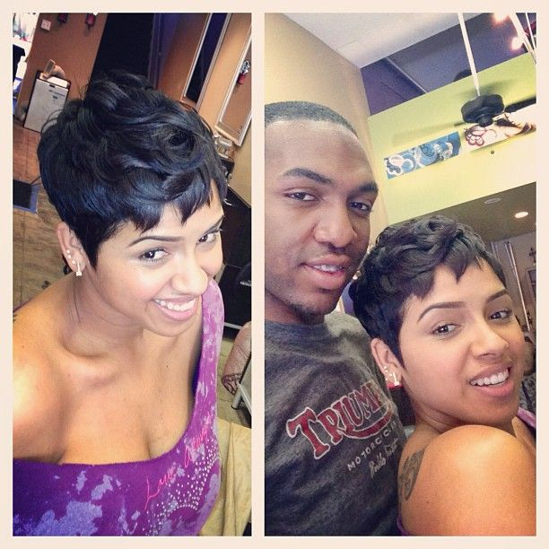 Short hair is in for the summer lady's , get like @RaVaughn Brown #raydonhair #laid #la #Padgram
