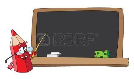 иллюстрация карандашом школы и доски photo