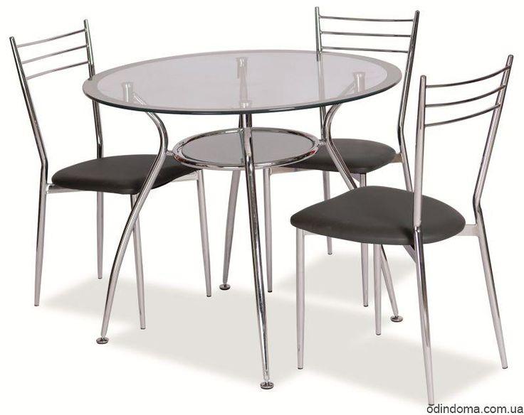 Стол cтеклянный Finezja A серебряный - цена, фото, отзывы - Один Дома