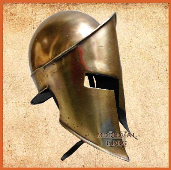 300 movie king spartan helmet king leonidas with by Medievaledge