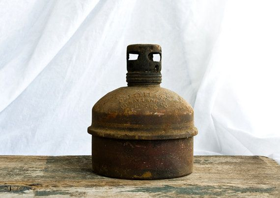 Antique Smudge Pot Kerosene Lamp Road Flare Do Ray Lamp