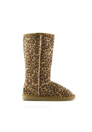 Cizme Tip Ugg Leopard