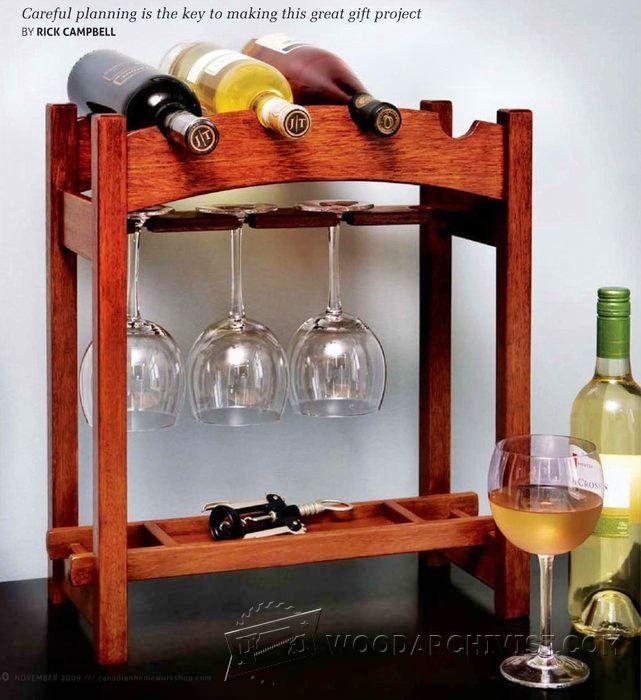 Wine Rack Plans - Furniture Plans and Projects | WoodArchivist.com
