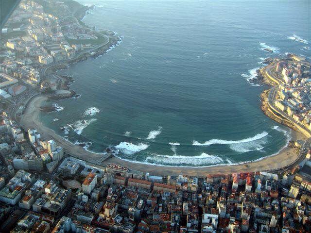 Ensenada de Riazor. La Coruña