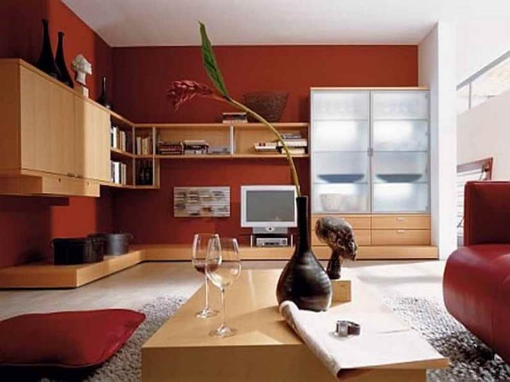 Living Room Designs And Ideas With Red Color Schemes Photo