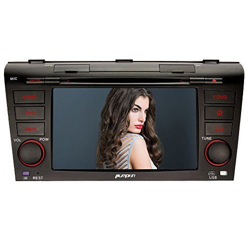 Special Offers - Pumpkin 7 inch Double DIN Quad Core Car DVD Player Touchscreen GPS Navigation FM/AM Car Stereo Radio Support 3G/WIFI/OBD2/DAB/Bluetooth/DVR/Mirror Link for Mazda 3 2004-2009 - In stock & Free Shipping. You can save more money! Check It (July 06 2016 at 06:41AM) >> http://cargpsusa.net/pumpkin-7-inch-double-din-quad-core-car-dvd-player-touchscreen-gps-navigation-fmam-car-stereo-radio-support-3gwifiobd2dabbluetoothdvrmirror-link-for-mazda-3-2004-2009/
