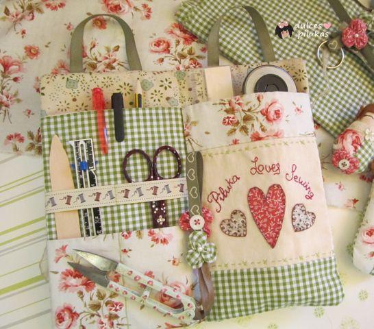 dulces pilukas: Bolsita organizadora. Piluka Loves Sewing