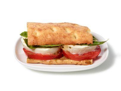 Almost-Famous Tomato, Basil and Mozzarella Flatbread Sandwiches