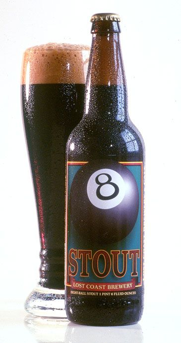 Lost Coast Brewery - 8 Ball Stout - This. Is. Awesome. I like stouts, and I like strong, so this fits the bill. But even better - it has a very pleasant taste of coffee to it. Love.