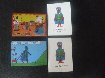 PACK OF FOUR ASSORTED GREETING CARDS WITH ENVELOPES