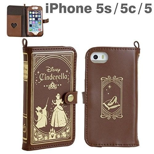 Old Book Phone Case : New cinderella old book iphone s c leather case disney