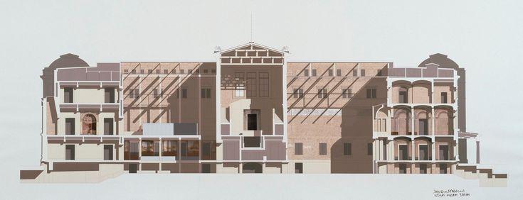 Neues Museum Berlin Deutschland Langsschnitt Kunstwerke Ra Collecti Com Royal Academy Of Arts Architectural Section David Chipperfield Architects