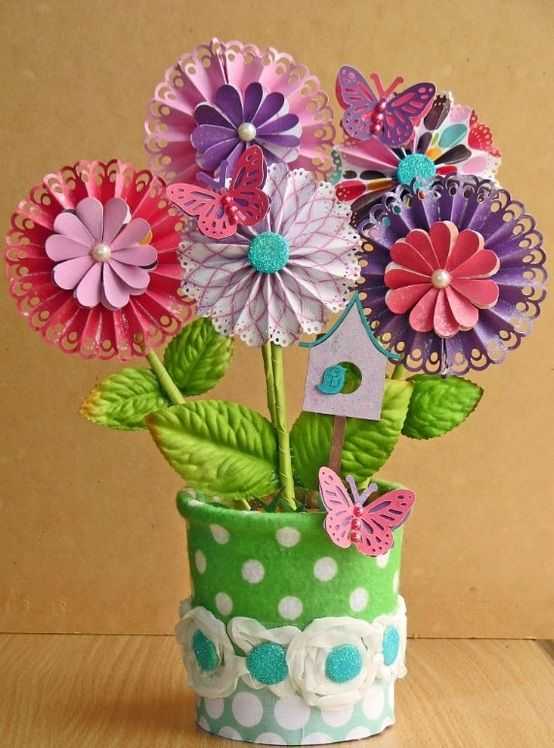 how to make easy paper flowers with stems