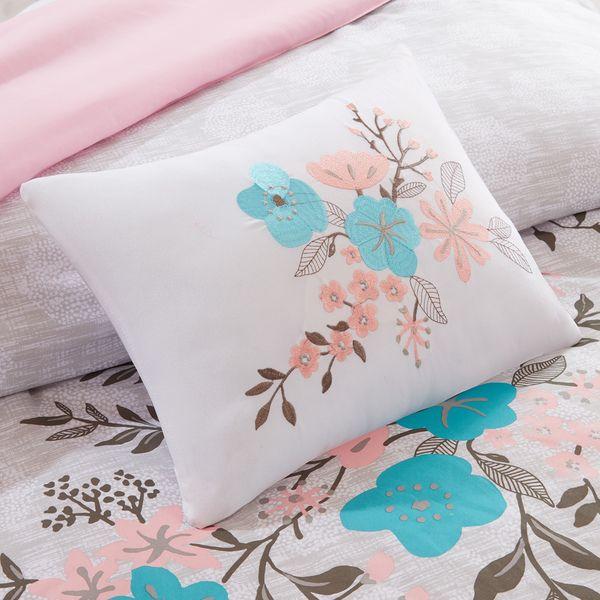 Intelligent Design Lucy Pink/ Teal Comforter Set