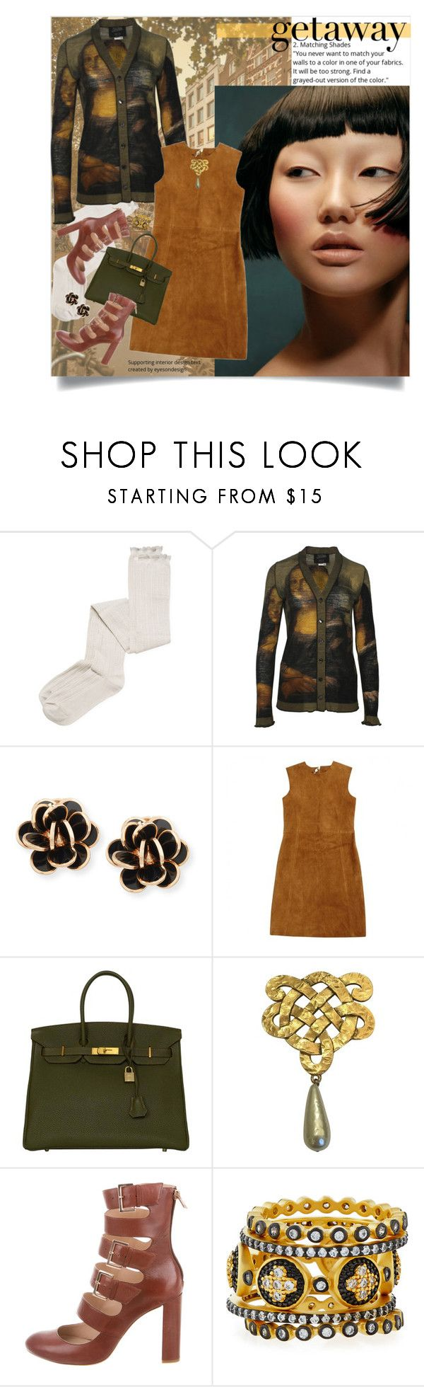 """""""Untitled #528"""" by mariahleia ❤ liked on Polyvore featuring Intimately Free People, Chantecler, Laurence Doligé, Hermès, Chanel, Ruthie Davis and Freida Rothman"""