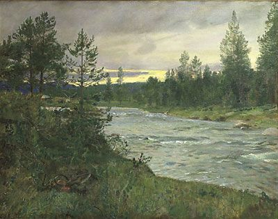 Eilif Peterssen (1852-1928): Fra Sevilosen ved Savalen, 1907