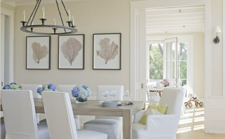 Neutral dining room, simply lovely.