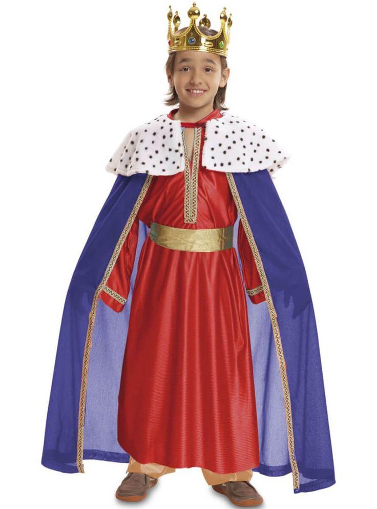 Túnica y capa de Rey Mago de Oriente para niño