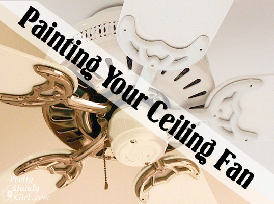 DIY Update Your Ceiling Fan with Paint - because why get rid of a perfectly functioning fan just because it's the wrong color?