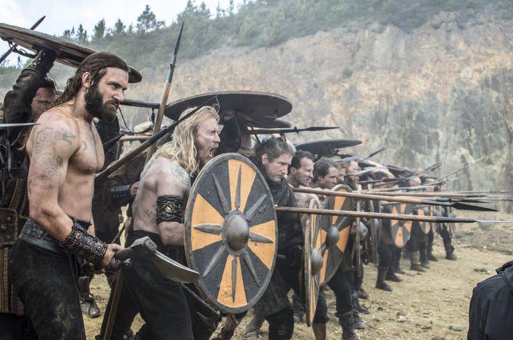 Clive Standen (as Rollo) & Thorbjørn Harr (as Jarl) in Vikings