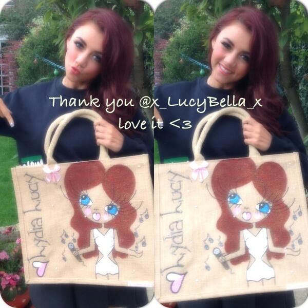 X Factors 2013's Lydia Lucy luvs her LucyBella bag xx