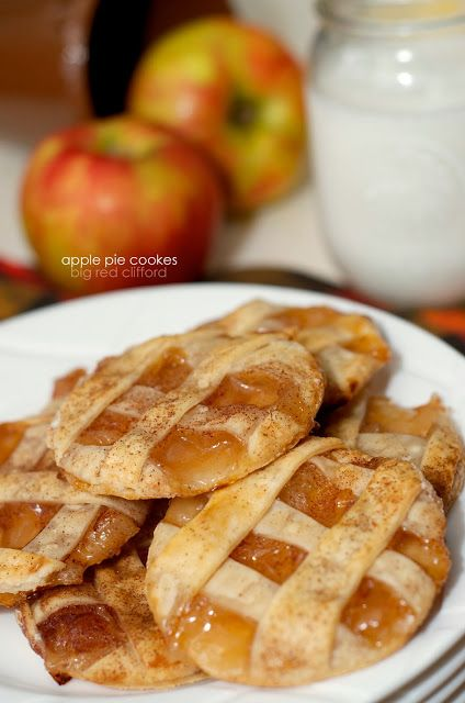 apple pie cookies. pie, minus the fork. bigredclifford.com