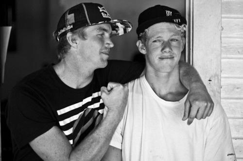 Two surf legends: Jamie O'Brien and John John Florence!