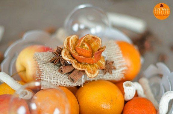 Розочки из апельсиновых корочек. Мастер-классы | Домохозяйка