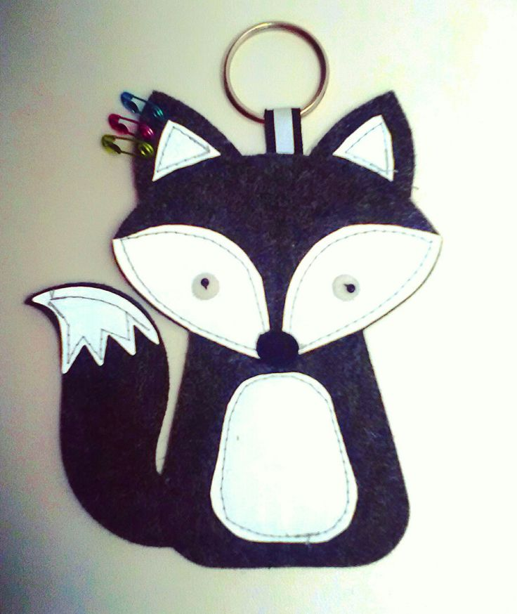 Rebel-fox,  reflective keychain