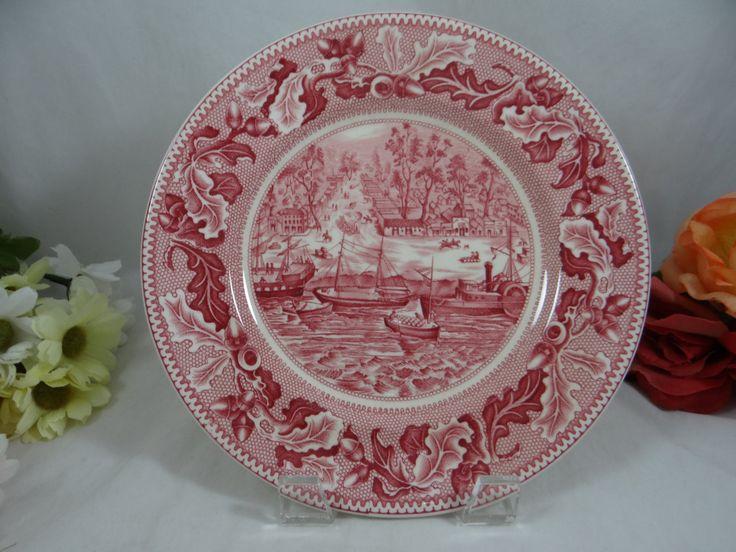 "1950 Vintage Johnson Bros England ""Historic America ""  Salad Plate – Sacremento City"