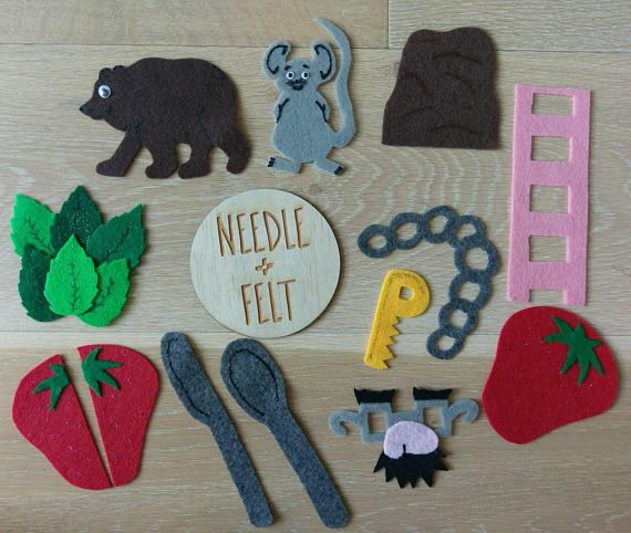 The Little Mouse, The Red-Ripe Strawberry, and The Big Hungry Bear Felt Board Story